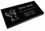 Angel Girl Grave Marker Black Granite Laser-Engraved Infant-Child Memorial Headstone