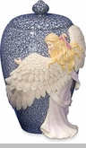 Medium Angel's Embrace Color Cremation Urn