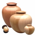 Artisan Hand-Turned Wood Cremation Urns