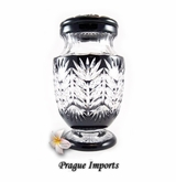Black Bentay Lead Crystal Cremation Urn