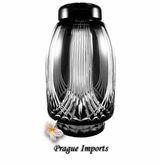 Black Gothic Lead Crystal Cremation Urn