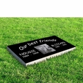 Black Granite Pet Markers