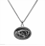 Cat Bed Sterling Silver Cremation Jewelry Necklace