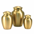 Classic Brass Pet Cremation Urn Series - Engravable