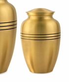 Classic Bronze Brass Medium Cremation Urn - Engravable