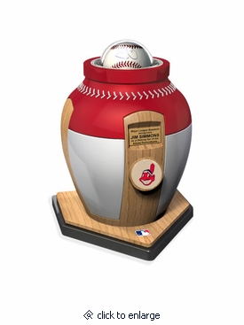 Cleveland Indians Major League Baseball Cremation Urn