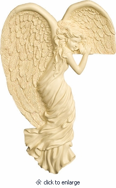 Corner Angel Watching Left Angel Wall Hanging Keepsake