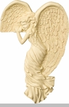 Corner Angel Watching Right Angel Wall Hanging Keepsake