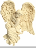 Courage Facing Left Angel Wall Hanging Keepsake