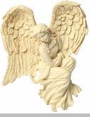 Courage Facing Right Angel Wall Hanging Keepsake