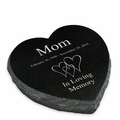Design Your Own Laser-Engraved Heart Marker Black Granite Memorial