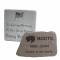 Flagstone Garden Memorial Markers - Custom Engraved