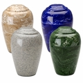 Grecian Marble Urns, (25 Colors) - Engravable on Top
