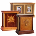 Handcrafted Cherry and Walnut Hardwood Cremation Urns Collection