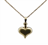 Heart 14kt Gold Cremation Jewelry Necklace