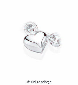 Heart Charm Sterling Silver Cremation Jewelry