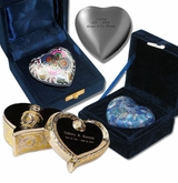 Hearts Keepsake Urn - Brass Collection