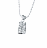 Leaves and Berries Sterling Silver Cremation Jewelry Pendant Necklace