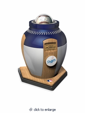Los Angeles Dodgers Major League Baseball Cremation Urn