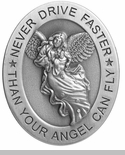 Never Drive Faster Than Your Angel Can Fly in Metal Visor Clip - Package of 6