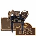 Personalized Cast Aluminum Pet Memorial Lawn and Garden Markers
