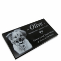 Pet Photo Grave Marker Black Granite Laser-Engraved Memorial Headstone