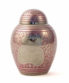 Pink Teddy Bear Infant Child Brass Cremation Urn