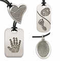 Prints White Bronze Keepsake Memorial Jewelry
