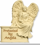 Protected By Angels in Ivory Visor Clip - Package of 6