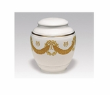 Roman Wreath Classica Porcelain Keepsake Cremation Urn