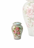 Rose Bouquet Hand Painted Ceramic Keepsake Cremation Urn