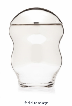 Silver Family Collection Glass Cremation Urn