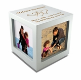 Small Rotating Photo Cube Cremation Urn - 3 Color Choices