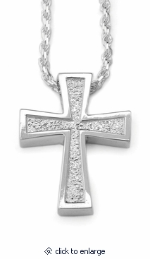 Spanish Cross Sterling Silver Cremation Jewelry Pendant Necklace