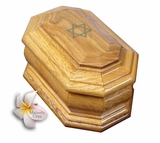 Star of David Cremation Urn in Oak