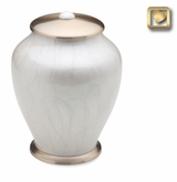Tall Simplicity Pearl Brass Cremation Urn