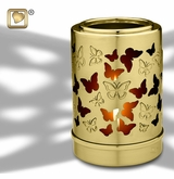 Tealight Candle Reflections of Life Brass Keepsake Cremation Urn