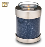 Tealight Candle Speckled Indigo Brass Keepsake Cremation Urn
