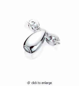 Teardrop Charm Sterling Silver Cremation Jewelry