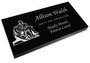 The Pieta Grave Marker Black Granite Laser-Engraved Memorial Headstone