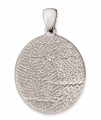 Thumbies 3D Fingerprint Sterling Silver Keepsake Memorial Pendant/Charm - 2 Sizes
