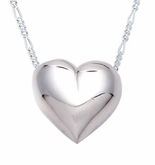 Traditional Heart Sterling Silver Cremation Jewelry Pendant Necklace