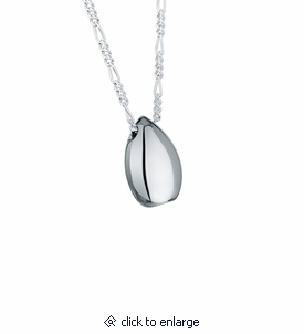 Traditional Teardrop Sterling Silver Cremation Jewelry Pendant Necklace