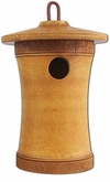 Turned Birdsong Scattering Mangowood Birdhouse Cremation Urn