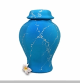 Turquoise Biodegradable Sea Cremation Urn