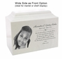White Marble Niche Cremation Urn Vault with Engraved Photo