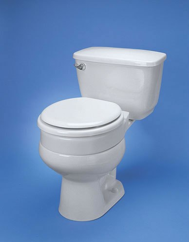 Hinged Elevated Toilet Seat Seat Riser