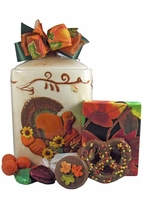 Ceramic Turkey Canister - 25 oz.