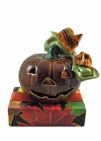 Small Jack-O-Lantern Candle Holder - 6 oz.