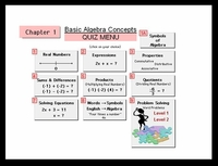 Algebra Chapter 1: Basic Algebra Concepts (14 new quizzes)
